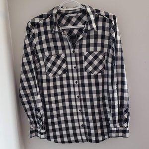 Black and White Plaid blouse